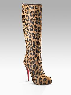 864c7aaa6e6f Christian Louboutin - Alta Ariella Talon Leopard Boots - would totally wear  these! Would look