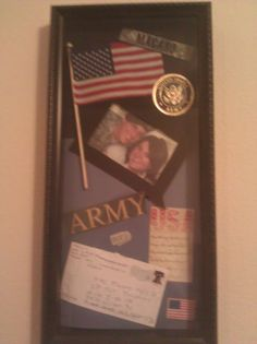 Military Shadow Box, I made for my mother in law for christmas.