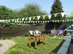 Home made Bunting for 40th Birthday Garden Party