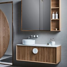 Australian bathroom trends: May 2018 edition - The Interiors Addict Bathroom Furniture, Bathroom Interior Design, Vanity, Modern Bathroom Design, Bathroom Trends, Bathroom Showrooms, Bathroom Units, Reece Bathroom, Bathroom Decor