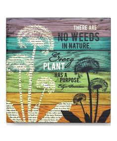 Look what I found on #zulily! 'No Weeds' Wall Art #zulilyfinds