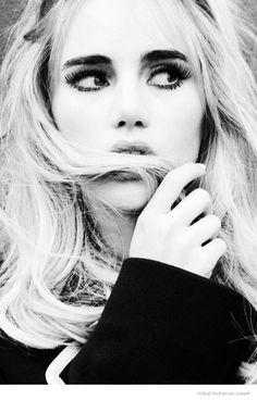 """""""New Queen of Britain"""" Suki Waterhouse 2014 issue of Vogue Russia. Photographed by Ellen von Unwerth"""