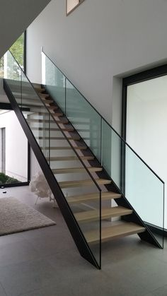 Interior stairs and railings - Metallbau Sandmeier - Treppen - Architecture Perspective Architecture, Architecture Résidentielle, Education Architecture, Classic Architecture, Home Design Store, Balustrades, Modern Stairs, Farmhouse Remodel, Interior Stairs