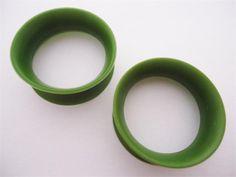 """KAOS Olive Green Skin Eyelets 1/2"""" gauge"""