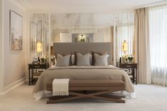 Master Bedroom - Beautiful luxury conversion from 1508 Interior Designers in Belgravia, London. Featured on www.MartynWhiteDesigns.com
