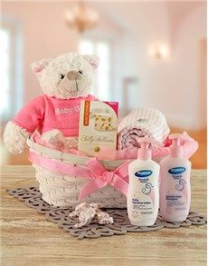 New Baby Shower Gifts: Baby Girl Gift Basket ! Baby Girl Gift Baskets, Baby Girl Gifts, Best Baby Gifts, Personalized Baby Gifts, New Parents, Baby Names, Baby Shower Gifts, New Baby Products, Teddy Bear