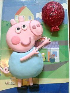 George Pig from Peppa Pig cake