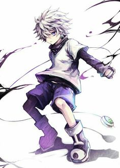 Hunter x hunter Killua Zoldyck He & hisoka have a special place in my heart… Killua, Hisoka, Alluka Zoldyck, Otaku Anime, Anime Boys, Manga Anime, Cute Anime Boy, Hunter X Hunter, Hunter Anime
