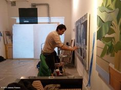 James Franco painting. i love him