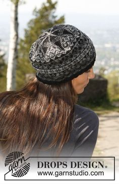 "Halifax / DROPS - Free knitting patterns by DROPS Design Knitted DROPS hat in ""Delight"" and ""Fabel"" with jacquard pattern. ~ DROPS design Always wanted to be able to knit, yet u. Bonnet Crochet, Knit Crochet, Crochet Hats, Drops Design, Fair Isle Knitting, Knitting Yarn, Knitting Stitches, Knitting Patterns Free, Free Knitting"