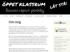 Låt stå: Öppet klassrum - alla är inbjudna https://oppetklassrum.wordpress.com/om-mig/ . Se mer av Annika Sjödahl: https://annikasjodahl.wordpress.com/about/ . Annika på Twitter: https://twitter.com/annikasjodahl .