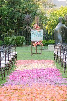 pastel wedding ceremony aisle idea via Joielala Photography / http://www.himisspuff.com/outdoor-wedding-aisles/4/