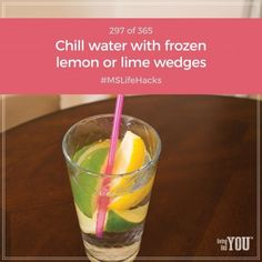 Freeze limes or lemons to use as flavorful ice cubes. #MSLifeHacks