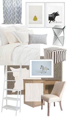 Cozy dorm design board via @thouswellblog, plus enter to win $100 from…