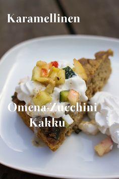Caramellized Apple Zucchini Cake - (gluten free) Karamellinen omena-zucchinikakku ja Ombarien uudet kuosit | Keittiökameleontti