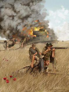 The Spanish Civil War - The Battle of Brunete Military Diorama, Military Art, Military History, Aztecas Art, Panzer, World War Two, Spanish Heritage, Spanish War, Wwii