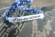 I love my airman Customizable Military by MilitaryHeartTees, $9.00