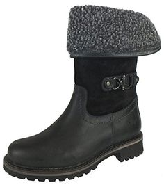 Bos  Co Womens Hillory Boot BlackDark GreyBlack Snow Top CromagnumOil Suede Leather 37 EU657 M US *** Continue to the product at the image link.