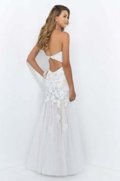 Sparkly Open Back Ivory Draped Trailing Evening Gown [Blush 9954] - $220.00 : 2014 Prom Dresses For Cheap Dressforparty2014.us