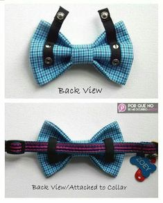 Dog Bow Tie Dog Bow Comics Superhero Blue Black Yellow by ZoZosPaw Pet Accessories, Dog Toys, Cat Toys, Pet Tricks Dog Crafts, Animal Crafts, Easy Crafts, Diy Pour Chien, Dog Clothes Patterns, Animal Projects, Diy Projects, Dog Bows, Bow Ties For Dogs