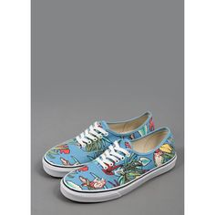 Authentic (Van Doren) Paradise #Vans #Shoes - Blue