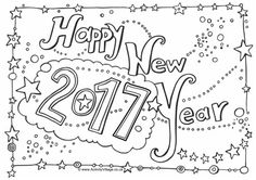 2017 colouring page