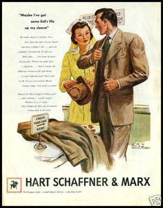 WW2 1944 Hart Schaffner and Marx `