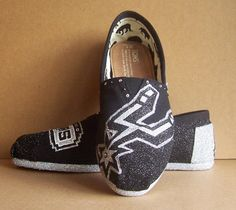 San Antonio Spurs TOMS by TattooedMary on Etsy, $120.00