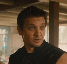 Clint Barton / Hawkeye - awww, he smiles after introducing his family