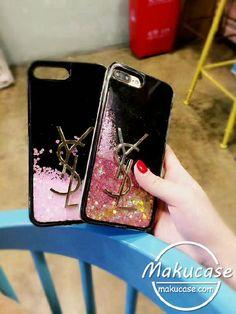 YSL iphone8/8plusケース キラキラ流れハート イブサンローラン iphone7 iphone7plusケース 可愛い iphone6s plusケース ガールズ向け 芸能人愛用アイフォンケース