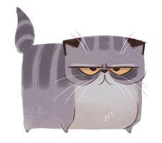 Daily Cat Drawings — 371: Exotic Shorthair