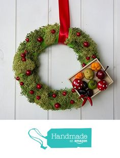 1-of-a-kind made in Italy real moss Christmas wreath, Italian Holidays 2015 decoration with moss and vegetables from Ghirlandiamo http://www.amazon.com/dp/B017FGYR7S/ref=hnd_sw_r_pi_dp_Z8Knwb0D5J99M #handmadeatamazon