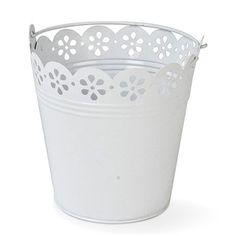Broderie Anglaise Pail Center Piece