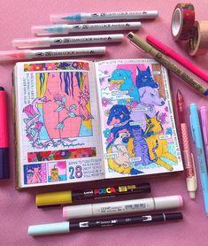Gsce art sketchbook photography 54 ideas for 2019 Marker Kunst, Posca Marker, Marker Art, Kunstjournal Inspiration, Sketchbook Inspiration, Arte Sketchbook, Sketchbook Pages, Sketchbook Ideas, Molotow Marker
