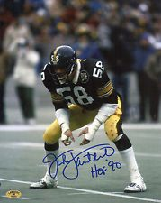 Jack Lambert Signed 8x10 Photo #7  Pittsburgh Steelers Lambert Hologram