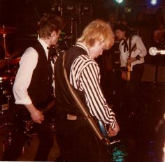 Really rare photos of Johnny Thunders playing in Oslo, Norway with Michael Thimren guitar, Adam Pearson bass and Chris Musto on drums.