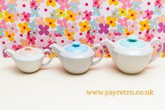 Poole Pottery Streamline Twintone Teapots now at yay retro! - Retro, Vintage China, Glassware, Kitchenalia, fabrics and books - yay retro!