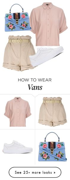 """""""Untitled #77"""" by elenamartinezt on Polyvore featuring Moschino, Topshop, Vans and Gucci"""
