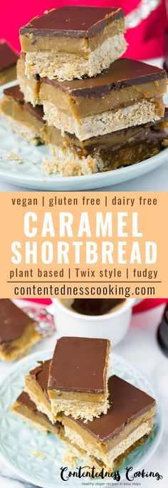 This super-delicious Vegan Caramel Shortbread (some would call it Millionaire Shortbread) reminds me so much of my favorite candy bar: Twix. You can now enjoy this in a plant based way, gluten free too, and 100% homemade.