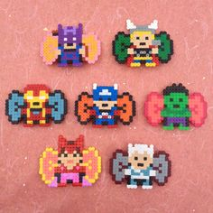 The Avengers Bows hama perler beads by ZoZoTings