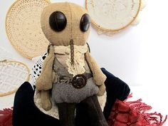 Steampunk Fly Handmade Upcycled Steampunk Doll by rabbithorns, $60.00