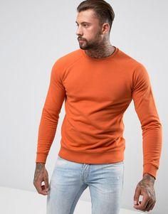 ASOS Sweatshirt in Orange - Orange