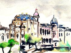 Bucharest Art Print featuring the painting Bucuresti by Cuiava Laurentiu Bucharest, Fine Art America, Thing 1, Aluminium Sheet, All Wall, Any Images, Got Print, How To Be Outgoing, See Photo