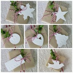 Handmade Clay Tag Christmas Ornaments from suttonplacedesigns.com