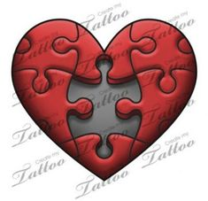 42 Ideas Tattoo Heart Mom Puzzle Pieces - The Effective Pictures We Offer You About tattoo minimaliste A quality picture can tell you many t - Broken Heart Drawings, Broken Heart Art, Broken Heart Tattoo, Cool Heart Drawings, Love Heart Drawing, Easy Drawings, Tattoo Drawings, Jigsaw Tattoo, Create My Tattoo