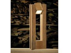 Adjustable teak Floor lamp LEGNO STYLE 60Q 360° - Lineaventi