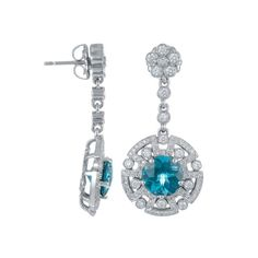 Color Story 14K White Gold Earrings with London Blue Topaz (4.8 ct) & Diamonds (1.05 ct) http://vptoday.com/Z1Aig6