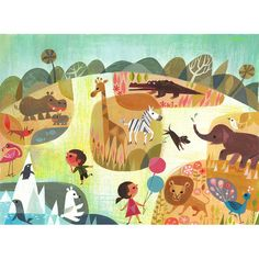 A Day At The Zoo Print by Joey Chou – Leanna Lin's Wonderland