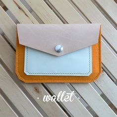 wallet · leather & wool felt http://marieladias.blogspot.pt