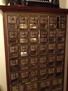 What we did with our antique mail boxes!
